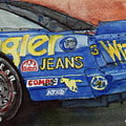 Dale Earnhardt's 1987 Chevrolet Monte Carlo Aerocoupe No. 3 Wrangler  Art Print