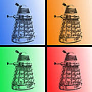 Dalek Pop Art Art Print