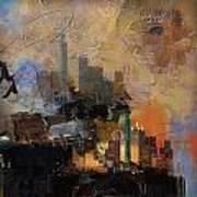 Dallas Abstract 002 Art Print