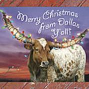 Dallas Christmas Card Art Print