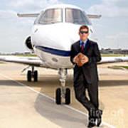 Dallas Cowboys Superbowl Quarterback Troy Aikman Art Print