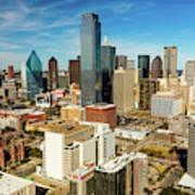Dallas Skyline As Seen From Reunion Art Print