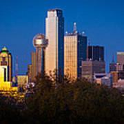 Dallas Skyline Art Print by Inge Johnsson
