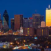 Dallas Skyline Panorama Art Print