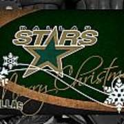 Dallas Stars Christmas Art Print