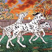 Dalmatians Three Art Print