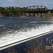 Dam And Rail Runs Art Print