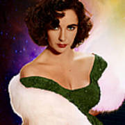 Dame Elizabeth Rosemond 'liz' Taylor - Featured In 'comfortable Art' Group Art Print