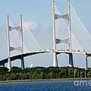 Dames Point Bridge Jacksonville Florida Art Print