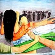 Delhi Gang Rape A Tragedy Art Print