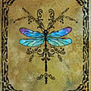 Damselfly Nouveau Print by Jenny Armitage