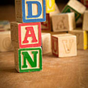 Dan - Alphabet Blocks Art Print