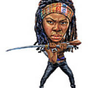 Danai Gurira As Michonne Art Print