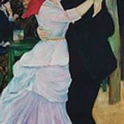 Dance At Bougival Renoir Art Print