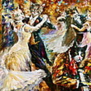 Dance Ball Of Cats  Art Print by Leonid Afremov