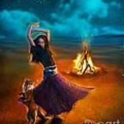 Dance Dervish Fox Art Print