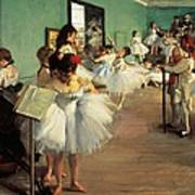 Dance Examination Art Print by Edgar Degas