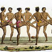 Dance Of The Caroline Islanders, Plate Art Print