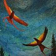 Dance Of The Firehawks Art Print