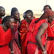 Dance Of The Maasai Art Print
