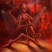 Dance Of The Medusa Art Print by Achim Prill