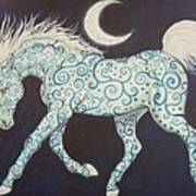 Dance Of The Moon Horse Art Print