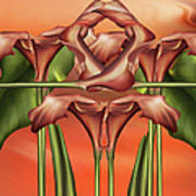 Dance Of The Orange Calla Lilies II Art Print