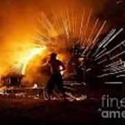 Dance On Fire Art Print