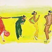 Dance Series 5 Of 8 Lindy Hop-swing Art Print