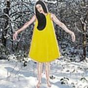 Dancer In The Snow Art Print