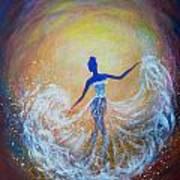 Dancer In White Dress Art Print