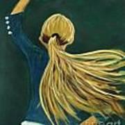 Dancer With Hair Art Print