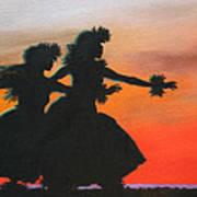 Dancers At Sunset Art Print