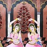 Dancers In Mughal Court Art Print