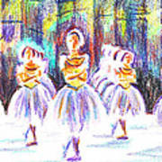 Dancers In The Forest II Art Print