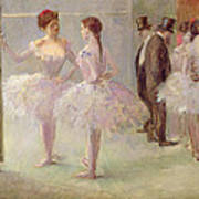 Dancers In The Wings At The Opera Art Print by Jean Louis Forain
