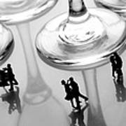 Dancing Among Glass Cups Print by Paul Ge