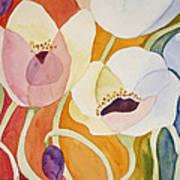 Dancing Anemones Art Print