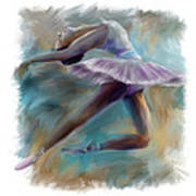 Dancing Ballerina Art Print