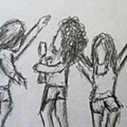 Dancing Children Art Print by Steve Jorde