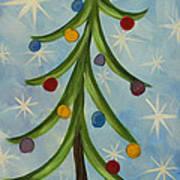 Dancing Christmas Tree Art Print