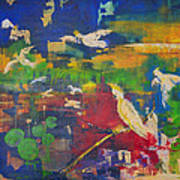 Dancing Cockatoos Art Print