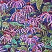 Dancing Coneflowers Art Print