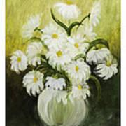 Dancing Daisies Art Print by Nancy Edwards