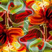 Dancing Flowers Art Print by Omaste Witkowski