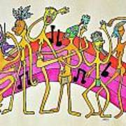 Dancing Happy People Art Print by Glenn Calloway