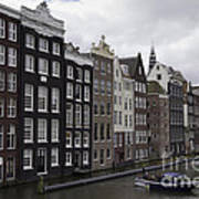 Dancing Houses Damrak Canal Amsterdam Art Print