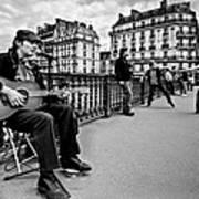 Dancing In The Streets Of Paris / Paris Art Print