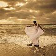 Dancing In The Surf 2 Art Print
