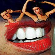 Dancing Lips Art Print